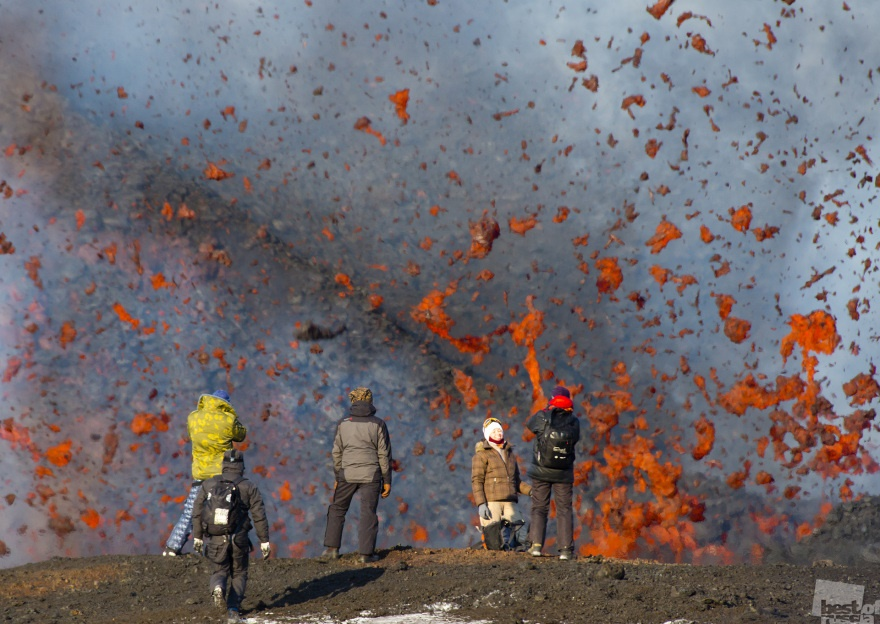 Tourists and Lava