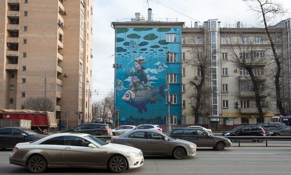 Creative Russian street-art: Huge Moscow graffiti - 03