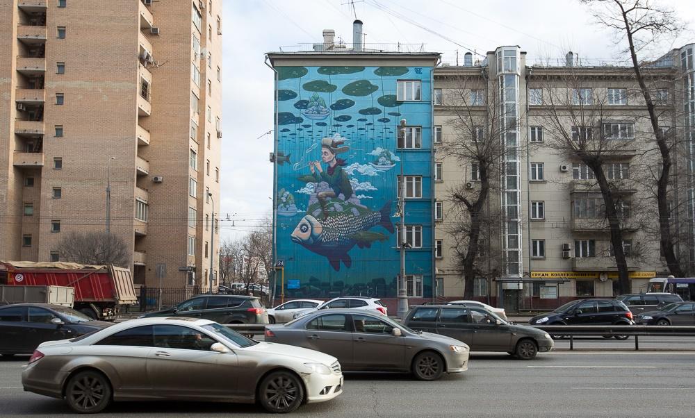 Creative Russian street-art: Huge Moscow graffiti - 03
