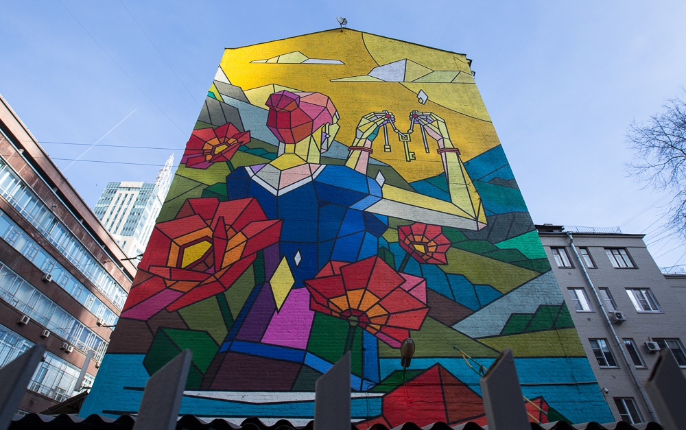 Creative Russian street-art: Huge Moscow graffiti - 10