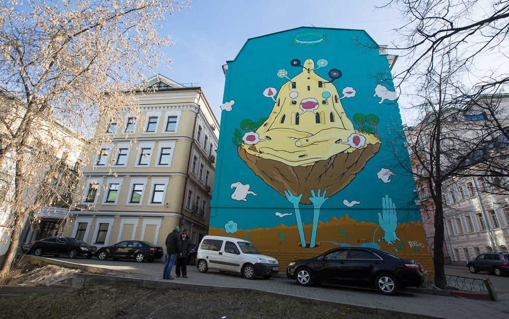 Creative Russian street-art: Huge Moscow graffiti - 14