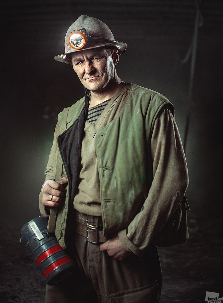 An underground worker