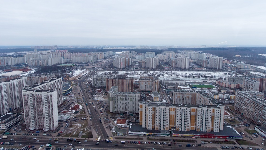 Flying around a suburban area of Moscow - 05