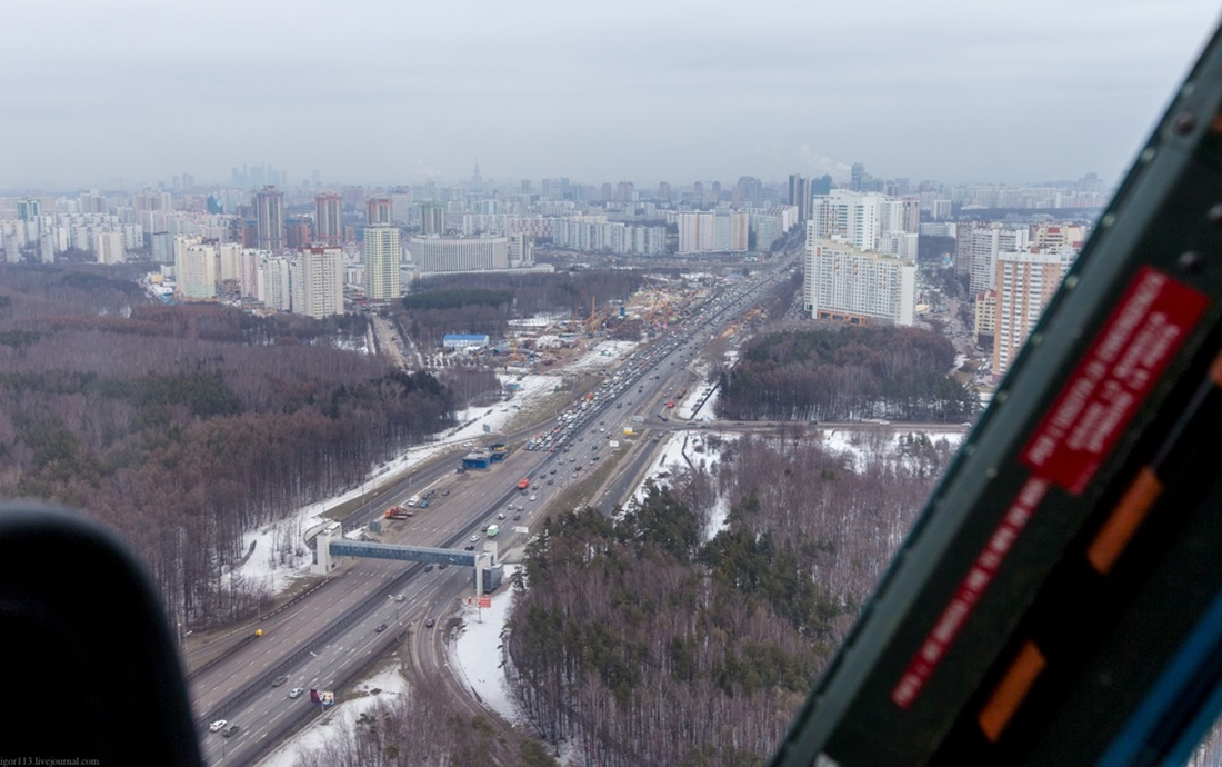 Flying around a suburban area of Moscow - 07