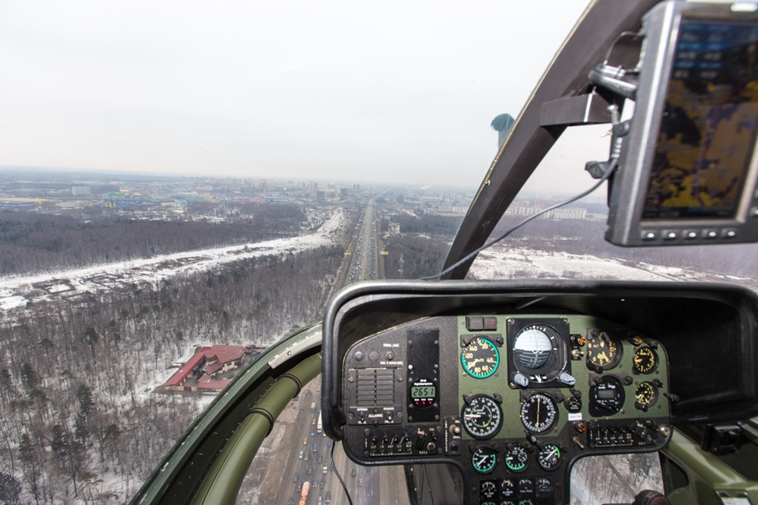 Flying around a suburban area of Moscow - 26