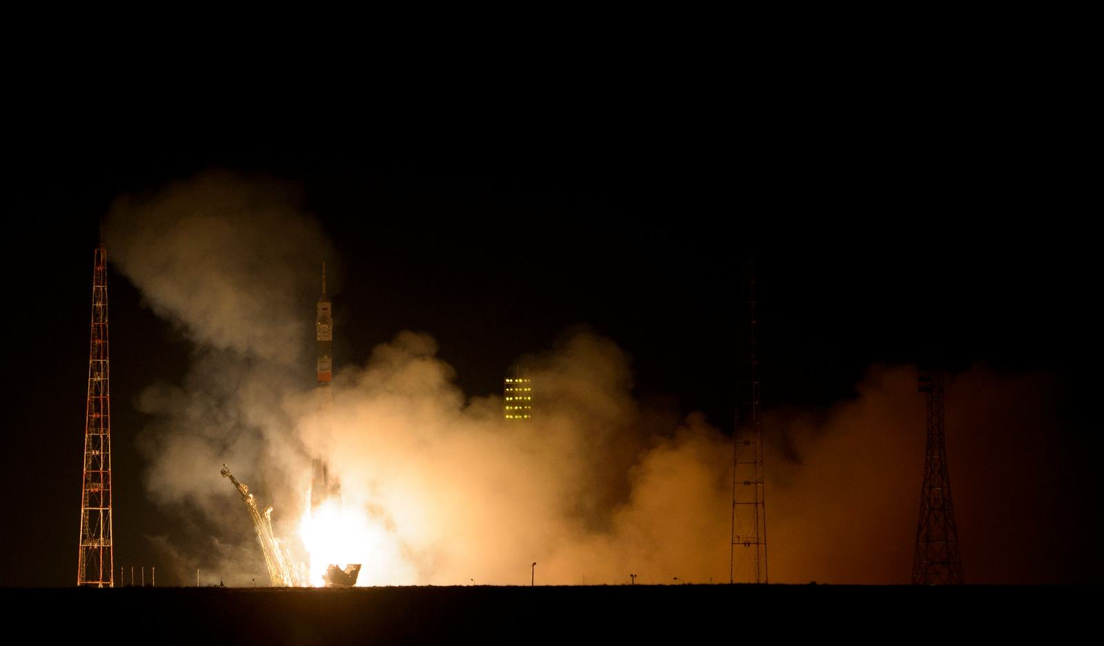 Space expedition 39: The launch of Russian rocket Soyuz TMA12M - 13