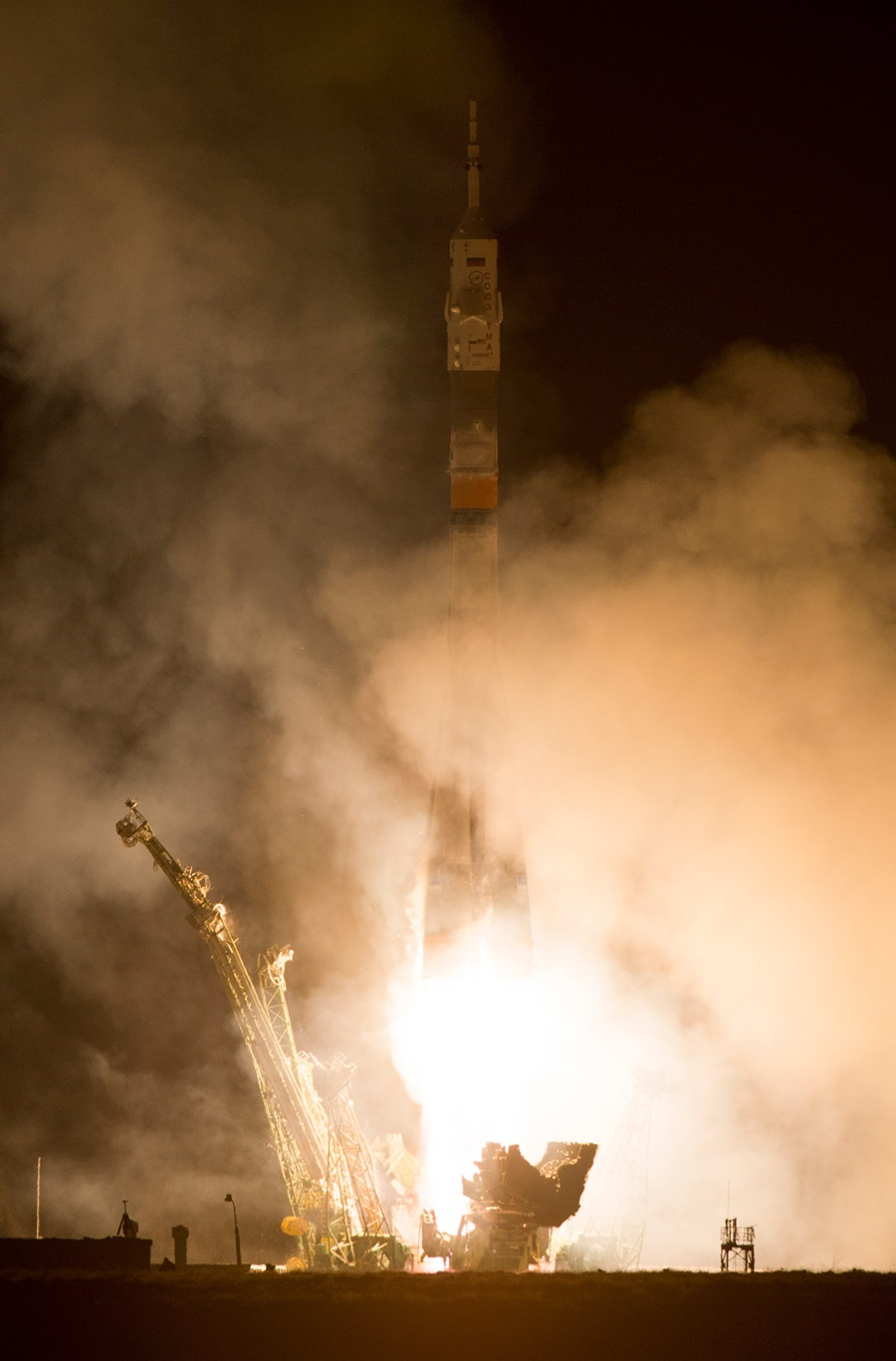 Space expedition 39: The launch of Russian rocket Soyuz TMA12M - 14