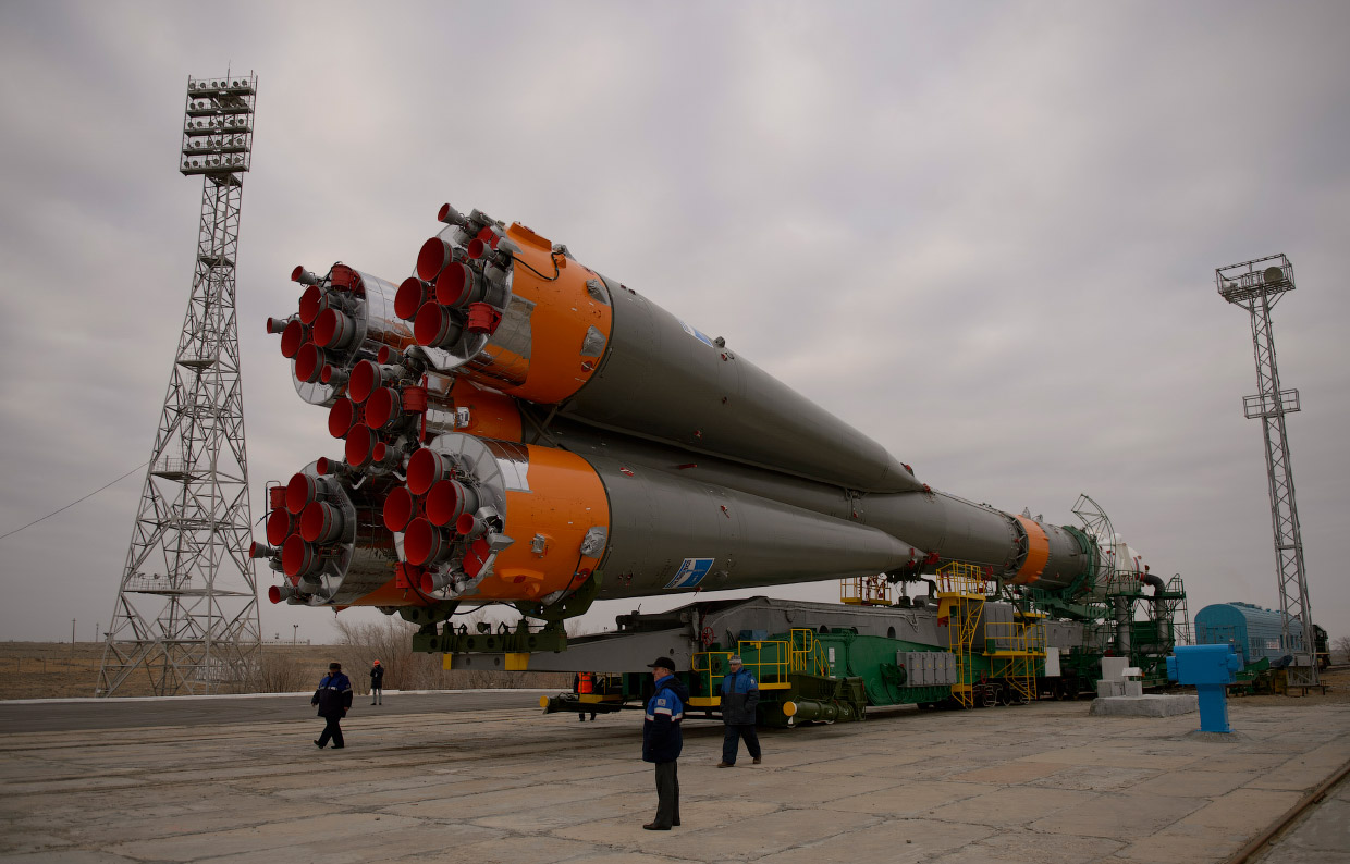 Space expedition 39: The launch of Russian rocket Soyuz TMA12M - 03
