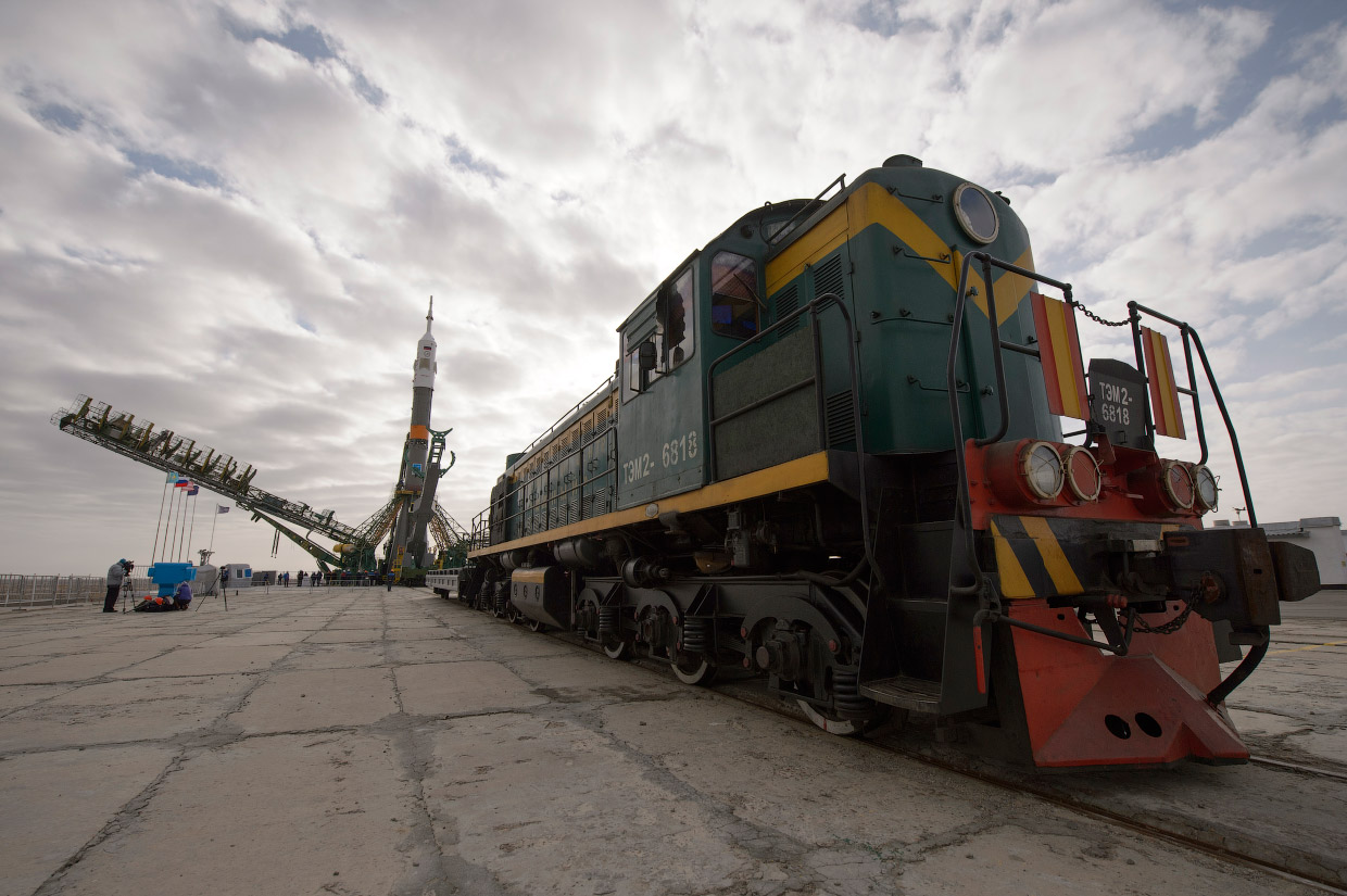 Space expedition 39: The launch of Russian rocket Soyuz TMA12M - 04