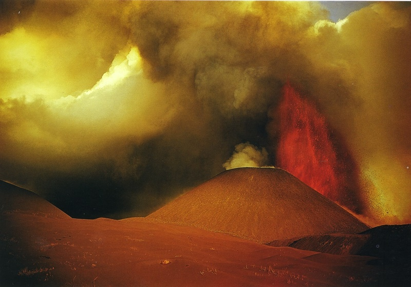 An eruption of Tolbachik volcano
