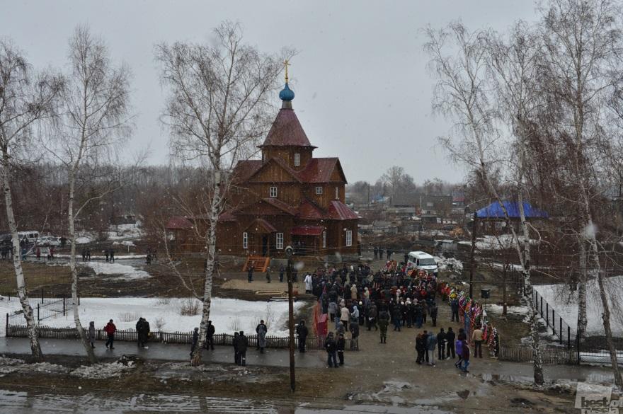 Valery Zolotukhin's funeral