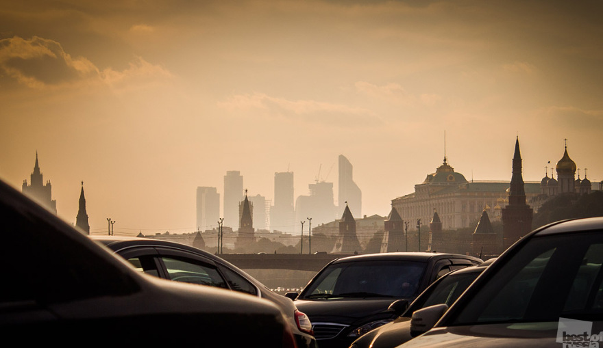 Smoggy Moscow Skyline