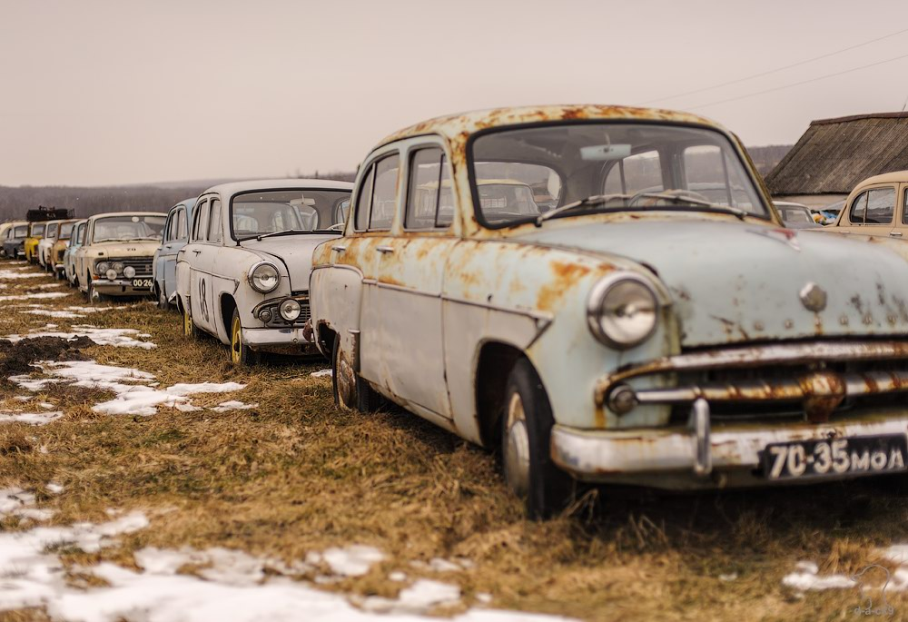 Cars cemetery: Dying unique old vehicles of Soviet Russia