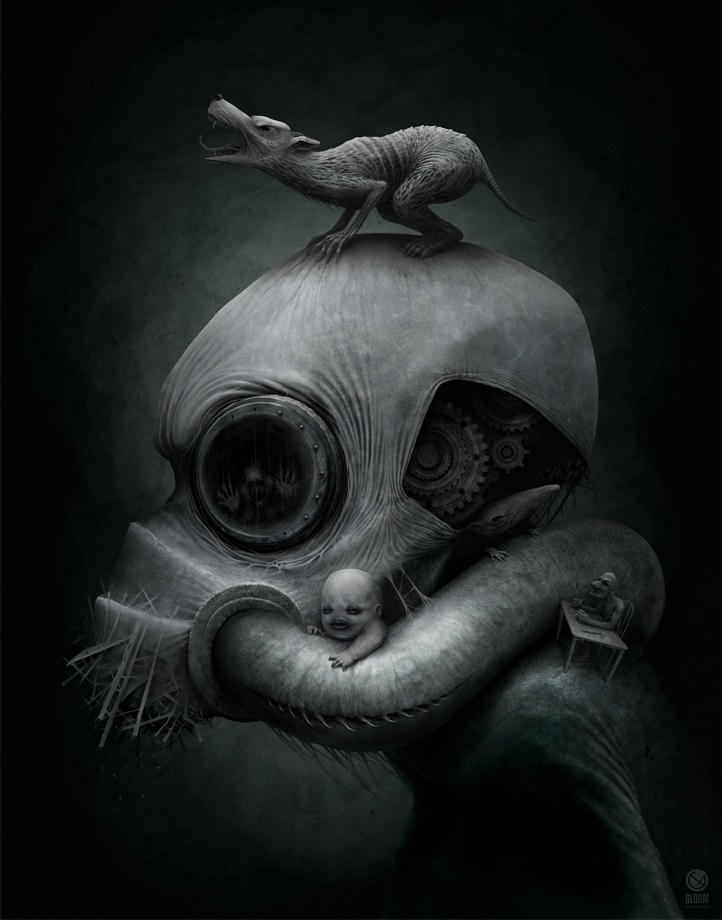 Gloom: Scary paintings by a Russian artist Anton Semenov - 20