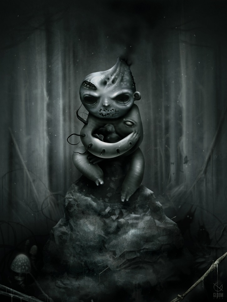 Gloom: Scary paintings by a Russian artist Anton Semenov - 21