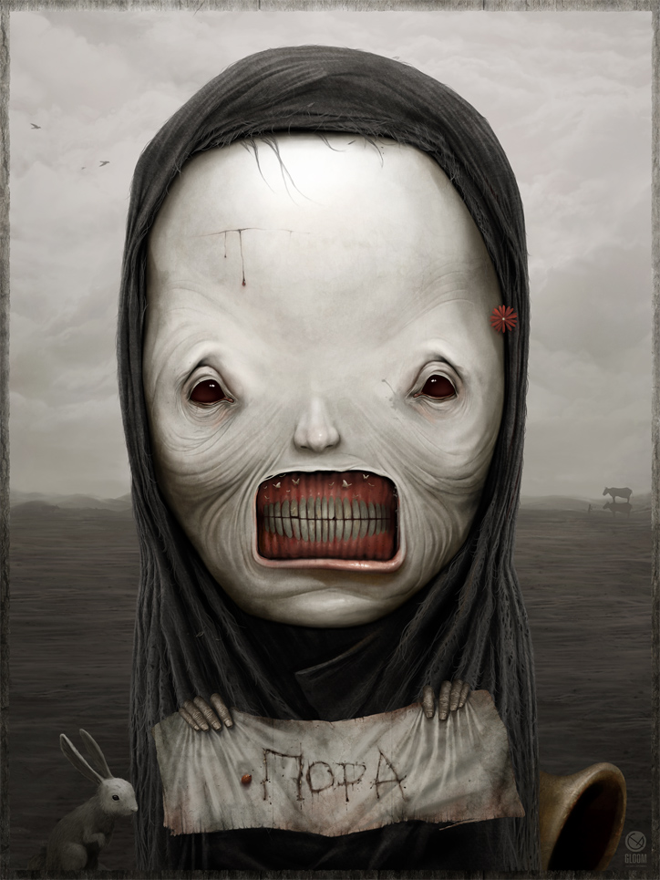 Gloom: Scary paintings by a Russian artist Anton Semenov - 29