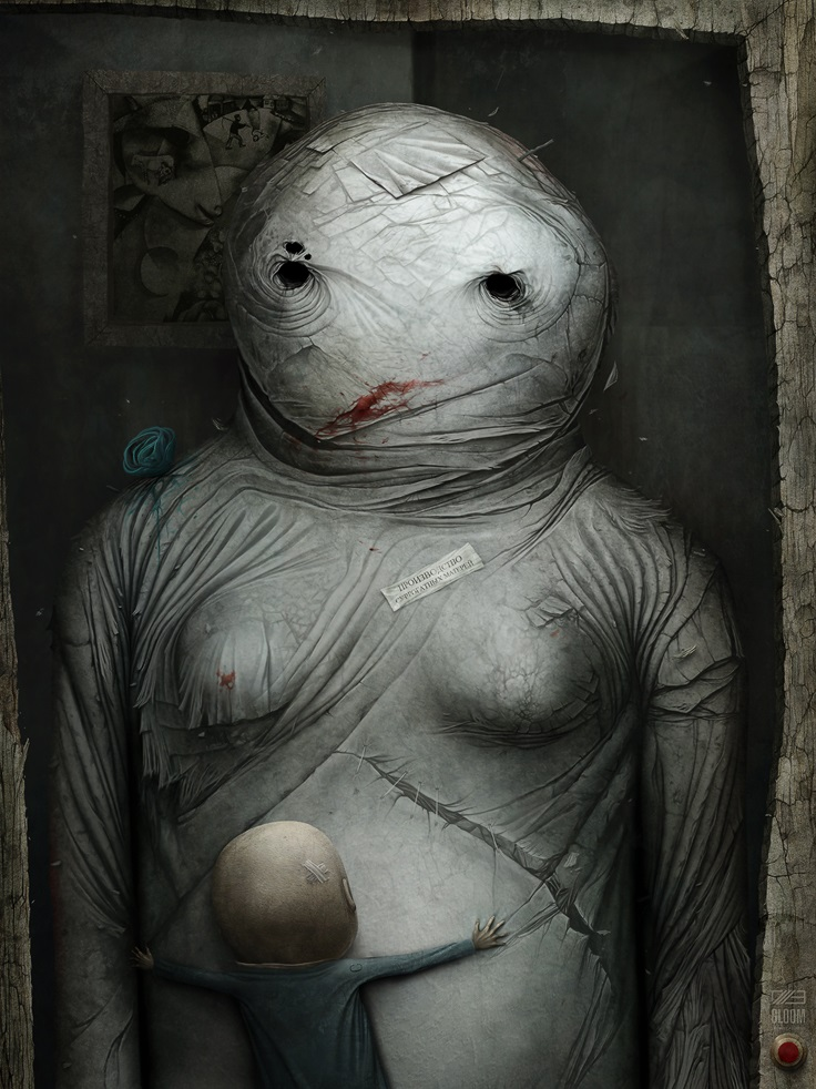 Gloom: Scary paintings by a Russian artist Anton Semenov - 31