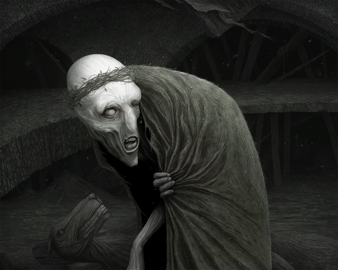 Gloom: Scary paintings by a Russian artist Anton Semenov - 34