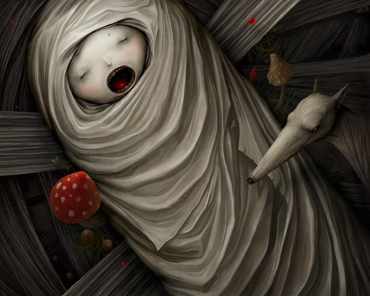 Gloom: Scary paintings by a Russian artist Anton Semenov - 37