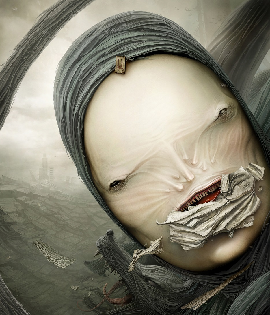 Gloom: Scary paintings by a Russian artist Anton Semenov - 40