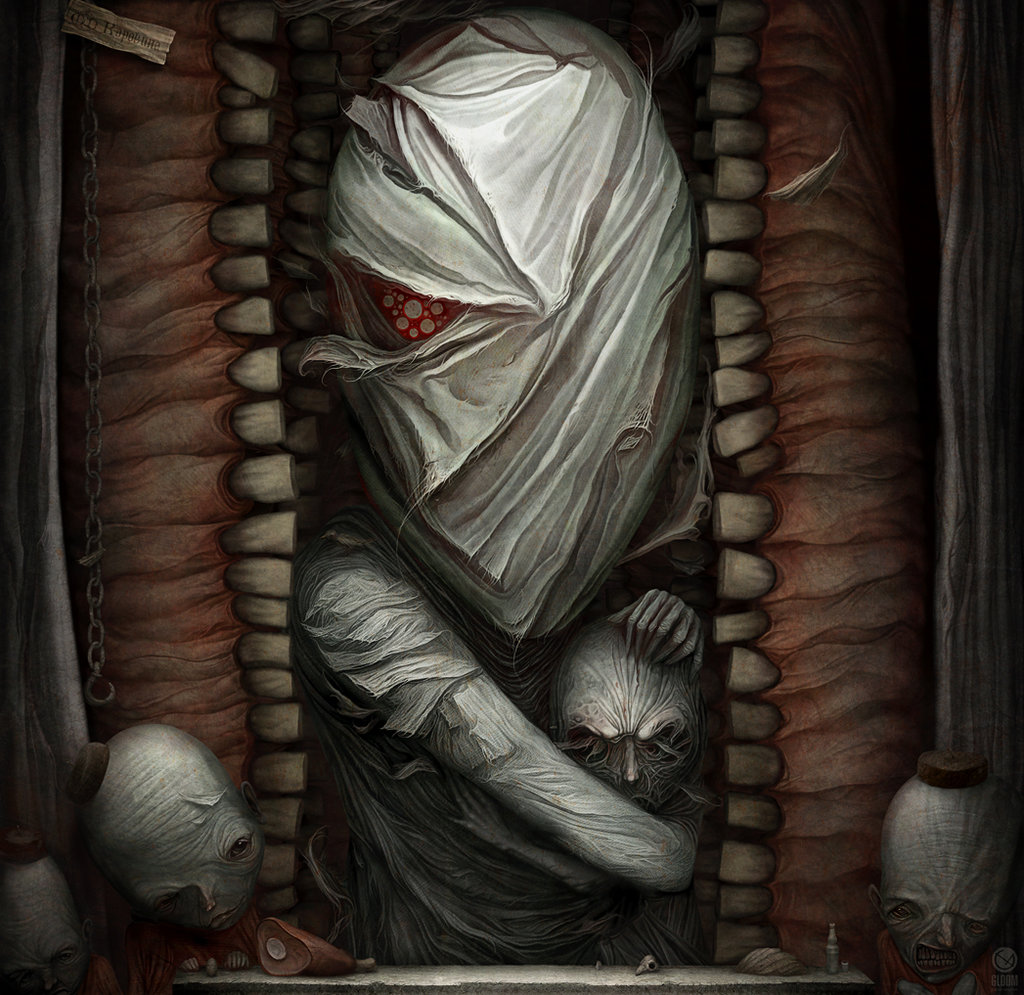 Gloom: Scary paintings by a Russian artist Anton Semenov - 49