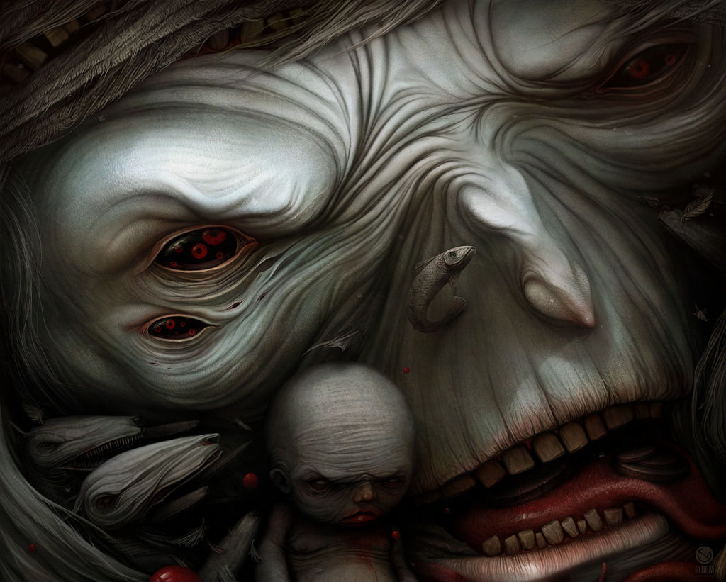 Gloom: Scary paintings by a Russian artist Anton Semenov - 54