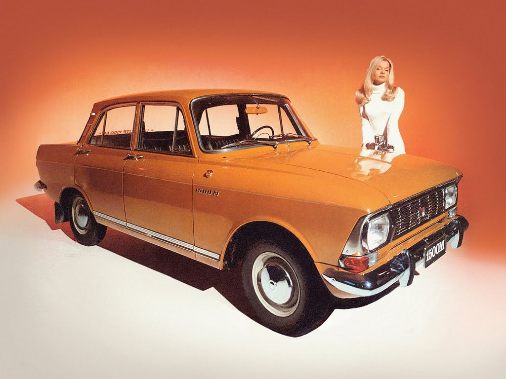 Advertising posters of Soviet cars Moskvitch - 05