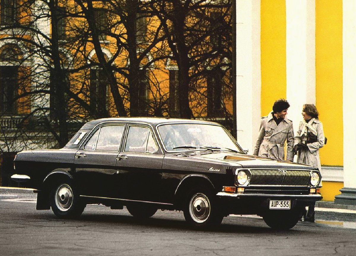Advertising posters of Soviet cars GAZ (Volga) - 07