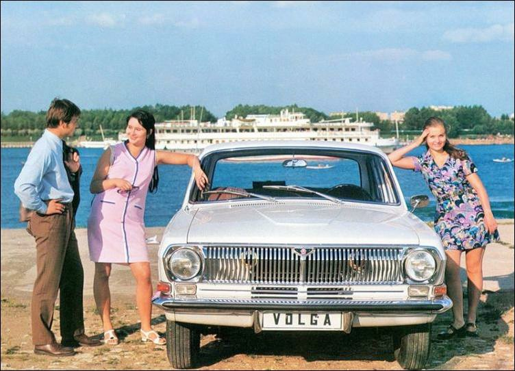 Advertising posters of Soviet cars GAZ (Volga) - 09