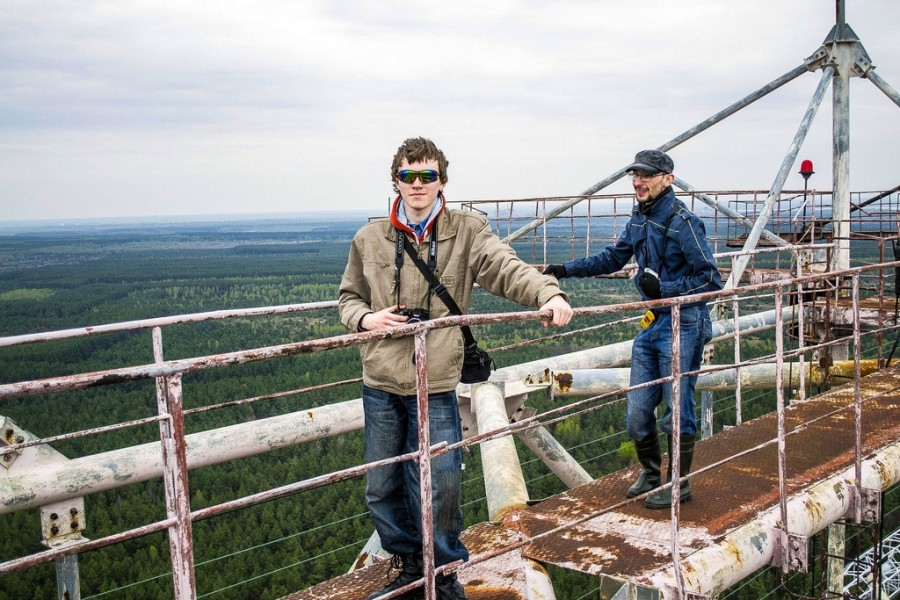 Climbing on Soviet over-the-horizon radar system Duga in Chernobyl - 14