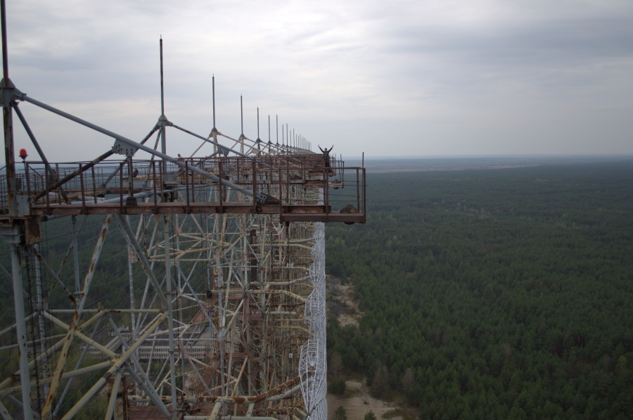 Climbing on Soviet over-the-horizon radar system Duga in Chernobyl - 17
