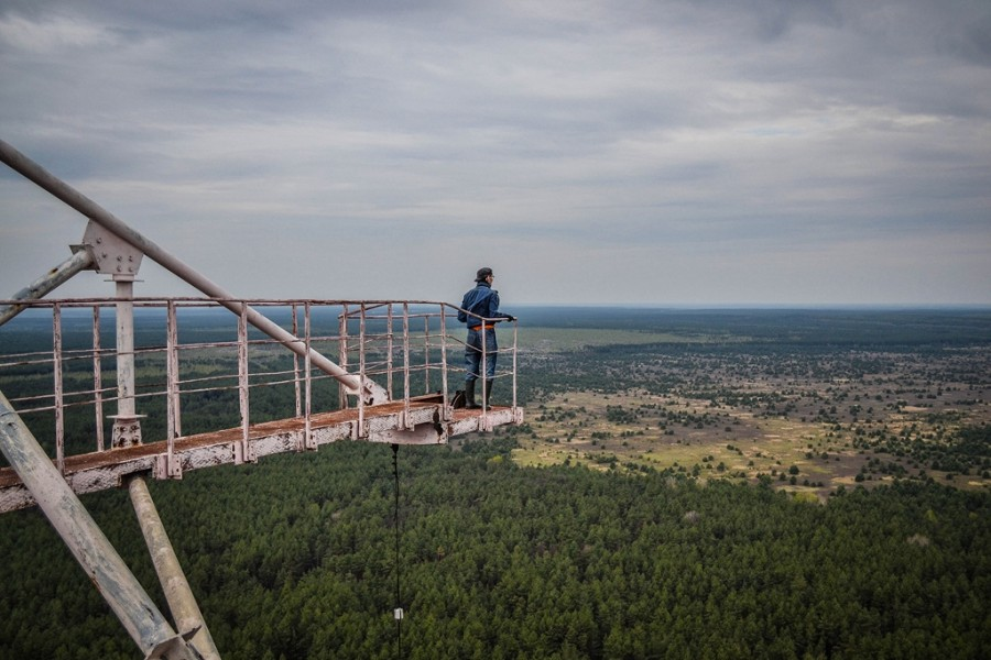 Climbing on Soviet over-the-horizon radar system Duga in Chernobyl - 22