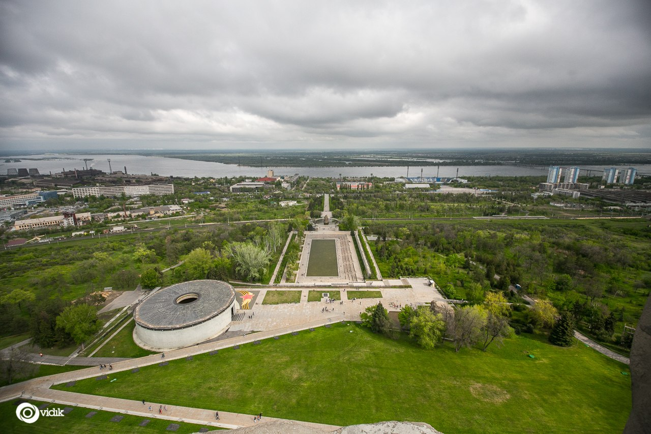 Climbing on top of the Motherland Calls Monument in Volgograd - 22