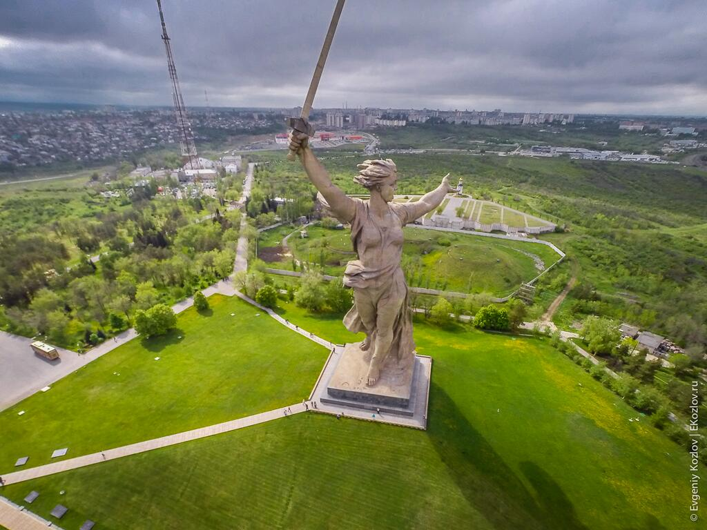Climbing on top of the Motherland Calls Monument in Volgograd - 35