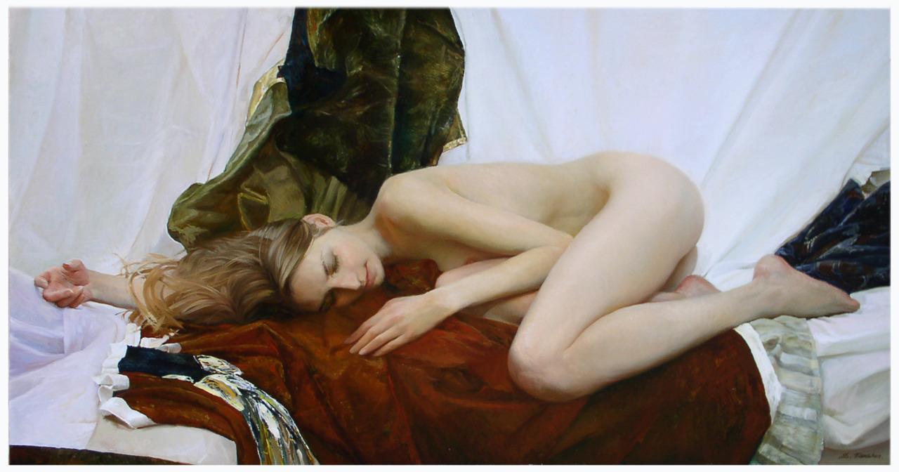 Women's images by a Russian realist artist Sergey Marshennikov - 01