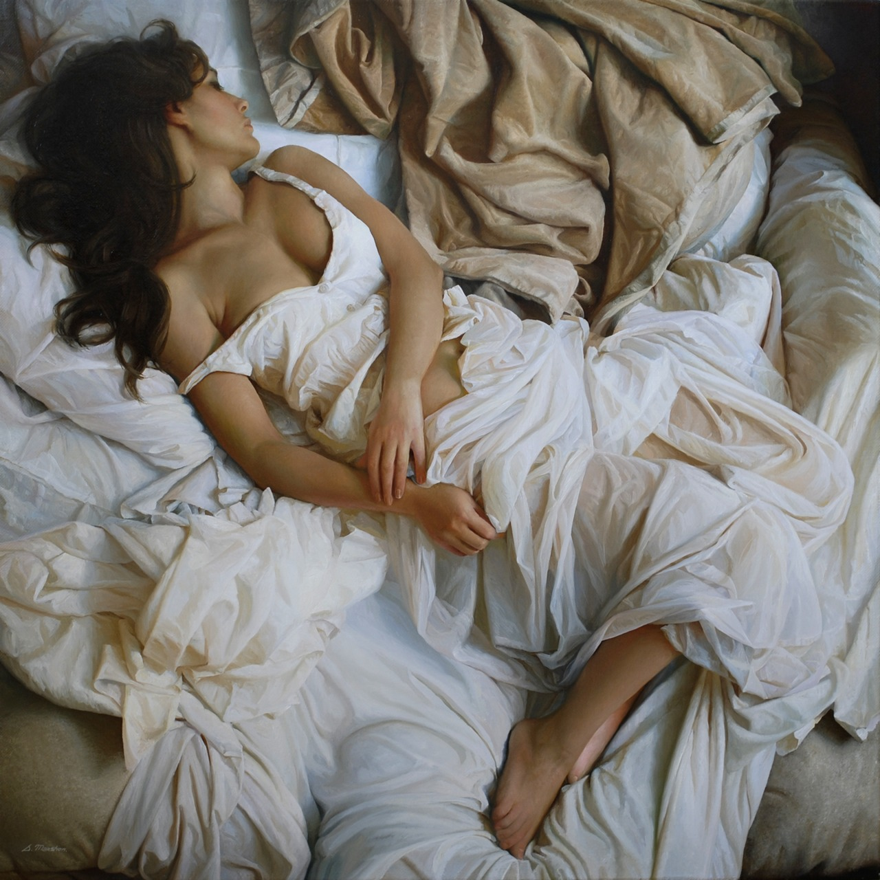 Women's images by a Russian realist artist Sergey Marshennikov - 13