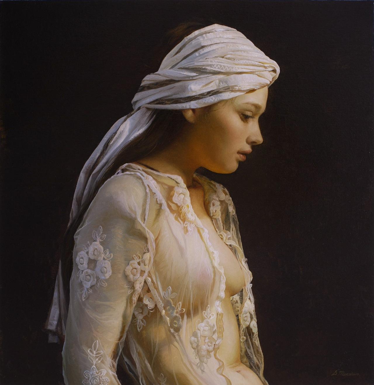 Women's images by a Russian realist artist Sergey Marshennikov - 19