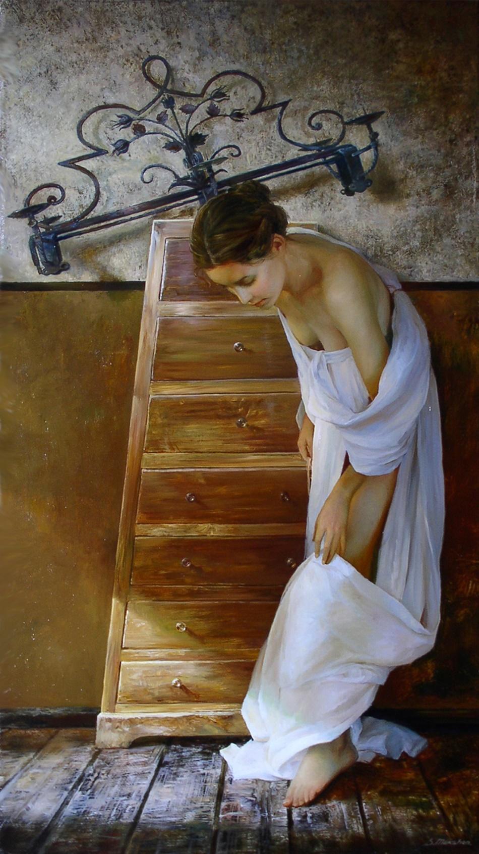 Women's images by a Russian realist artist Sergey Marshennikov - 02