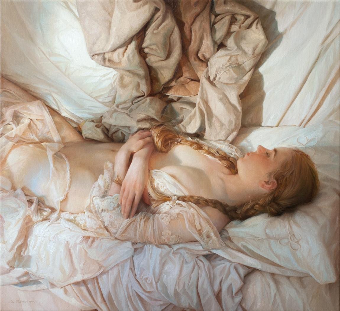 Women's images by a Russian realist artist Sergey Marshennikov - 20