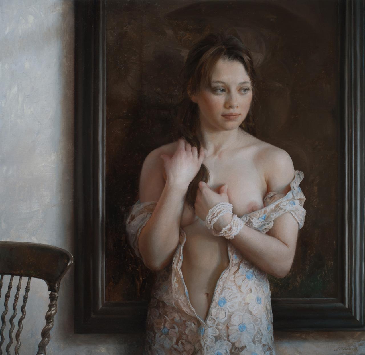Women's images by a Russian realist artist Sergey Marshennikov - 21