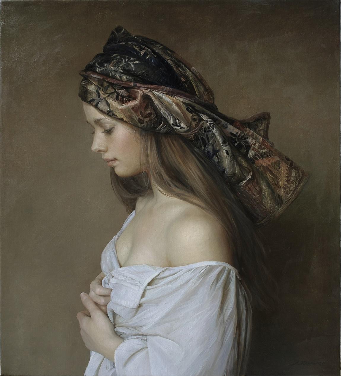 Women's images by a Russian realist artist Sergey Marshennikov - 24