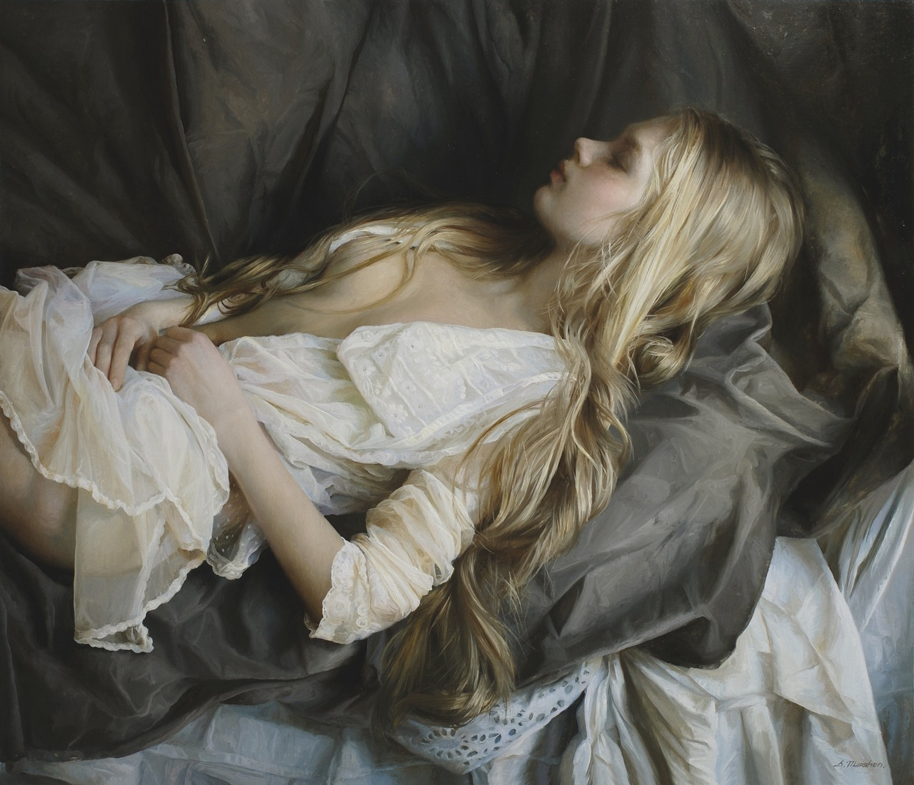 Women's images by a Russian realist artist Sergey Marshennikov - 25