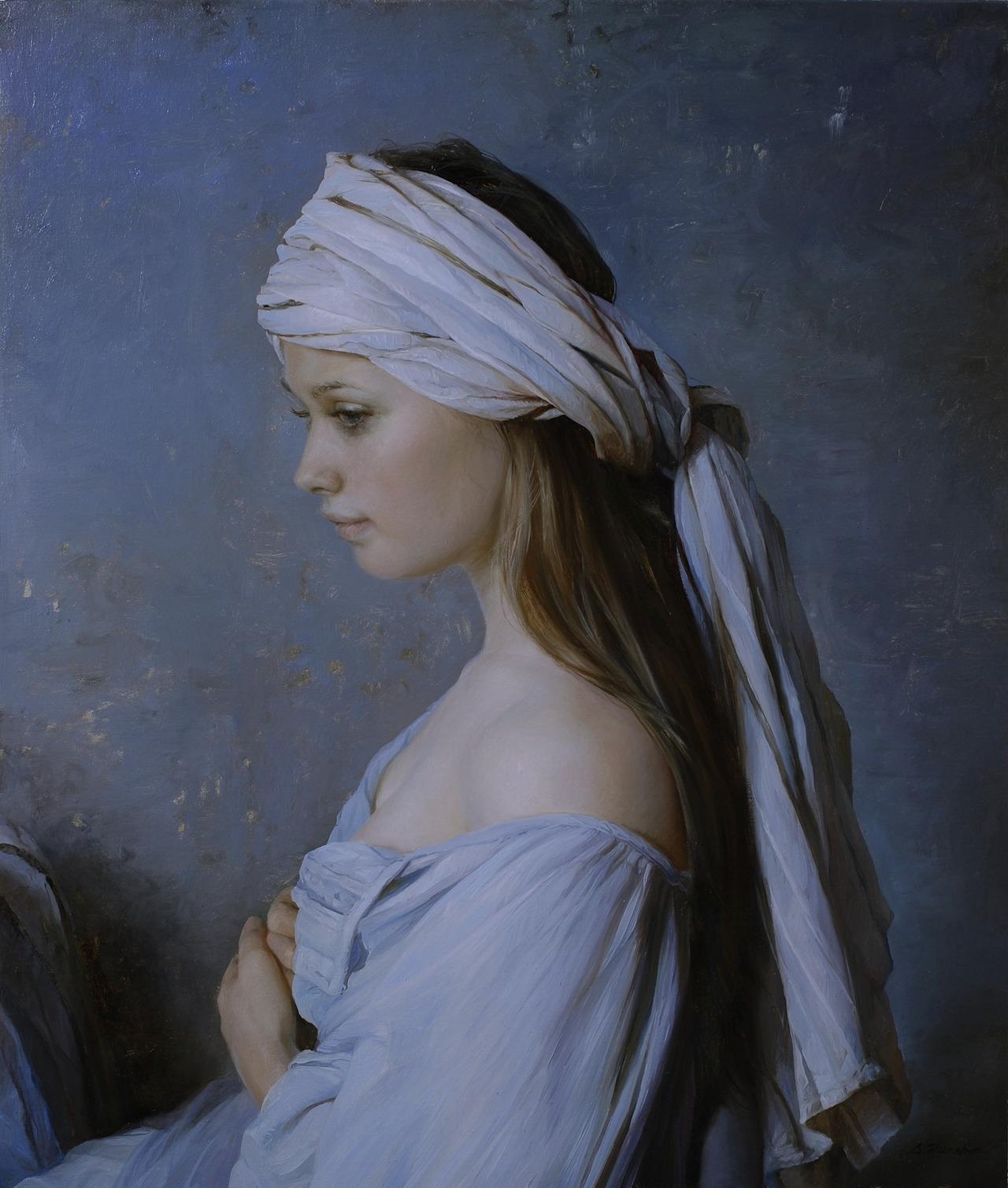Women's images by a Russian realist artist Sergey Marshennikov - 26