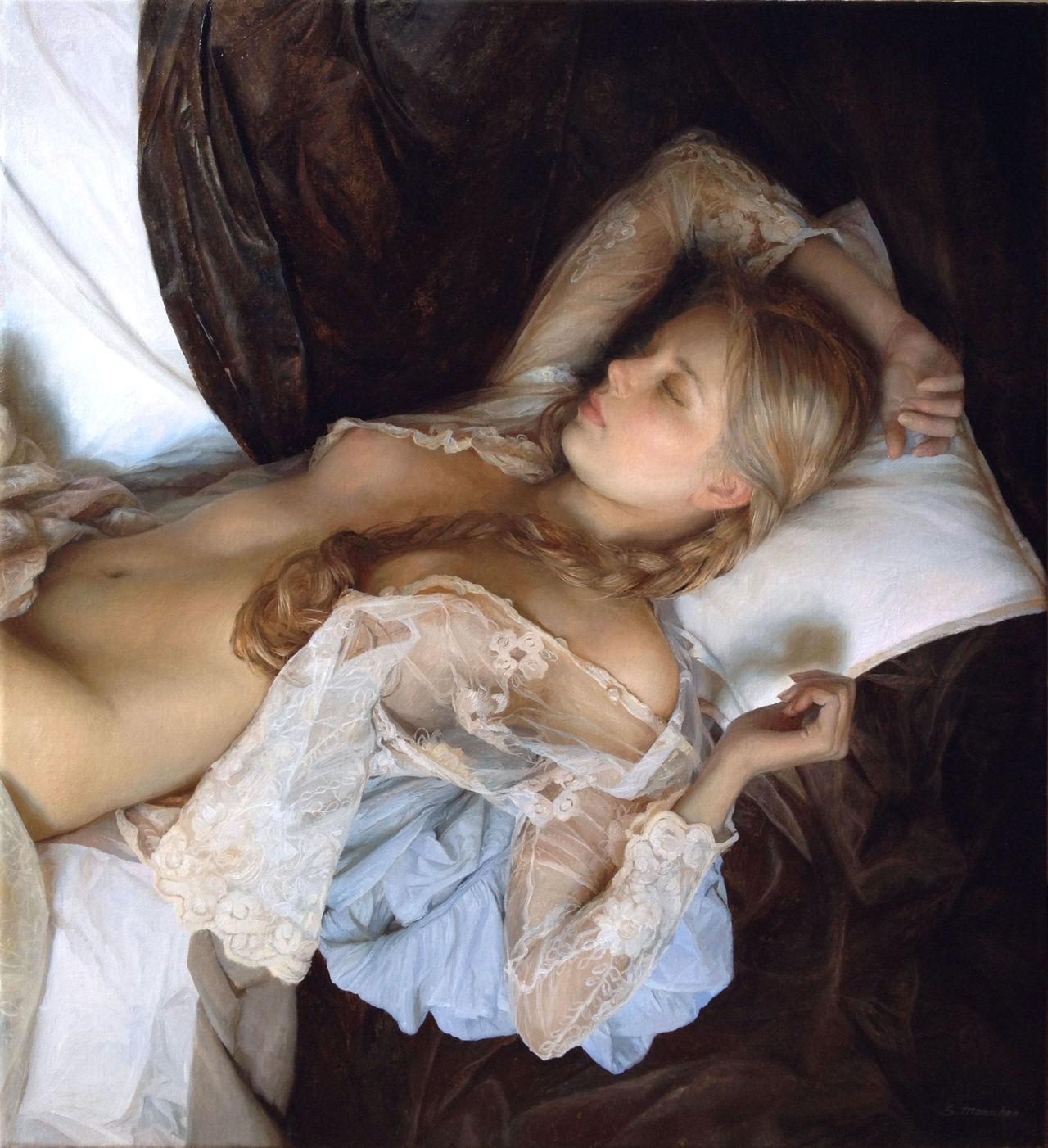 Women's images by a Russian realist artist Sergey Marshennikov - 28