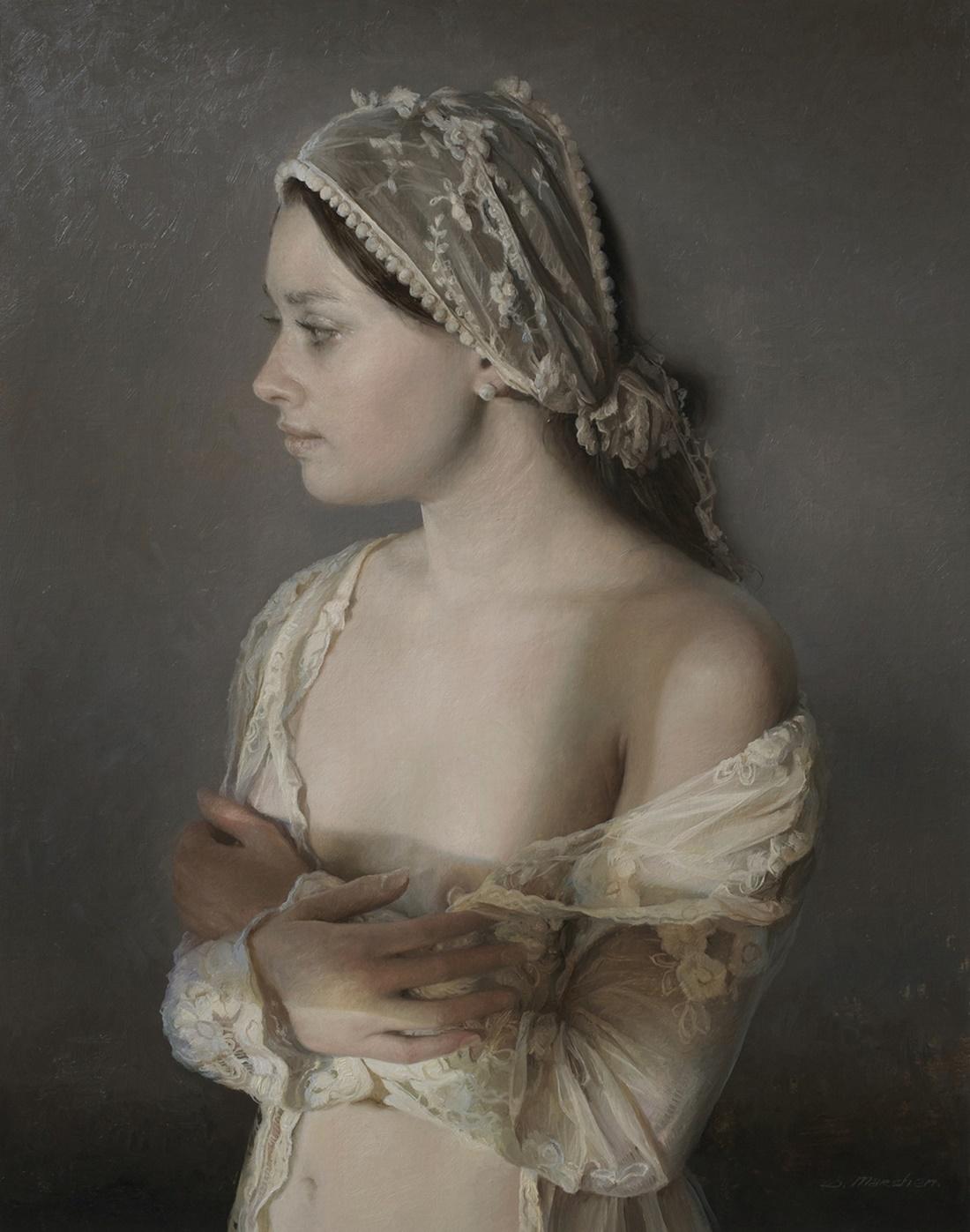 Women's images by a Russian realist artist Sergey Marshennikov - 29