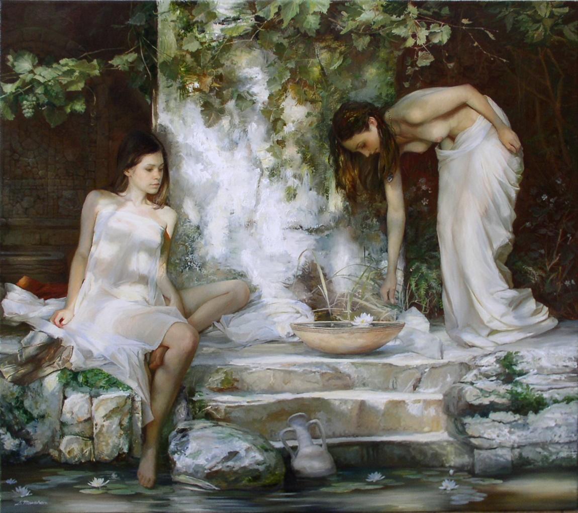 Women's images by a Russian realist artist Sergey Marshennikov - 03