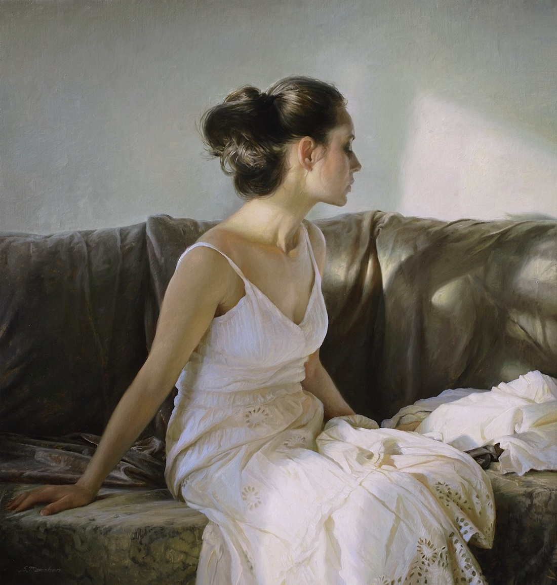 Women's images by a Russian realist artist Sergey Marshennikov - 30
