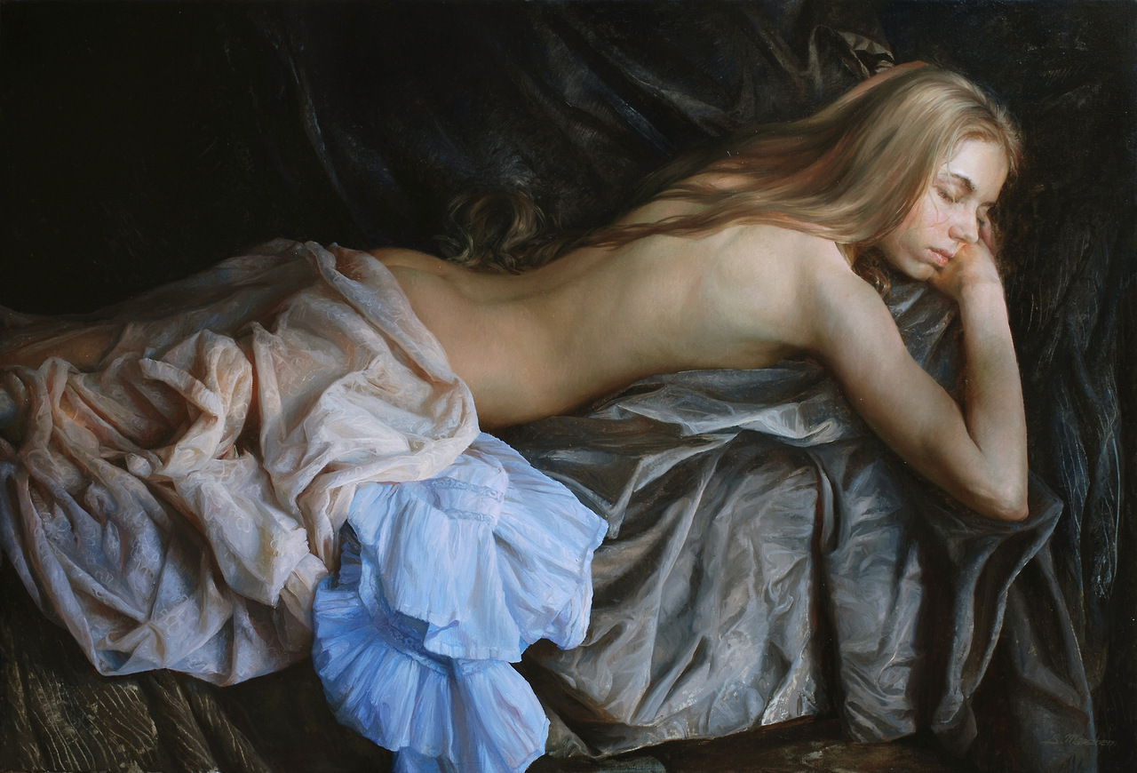 Women's images by a Russian realist artist Sergey Marshennikov - 33