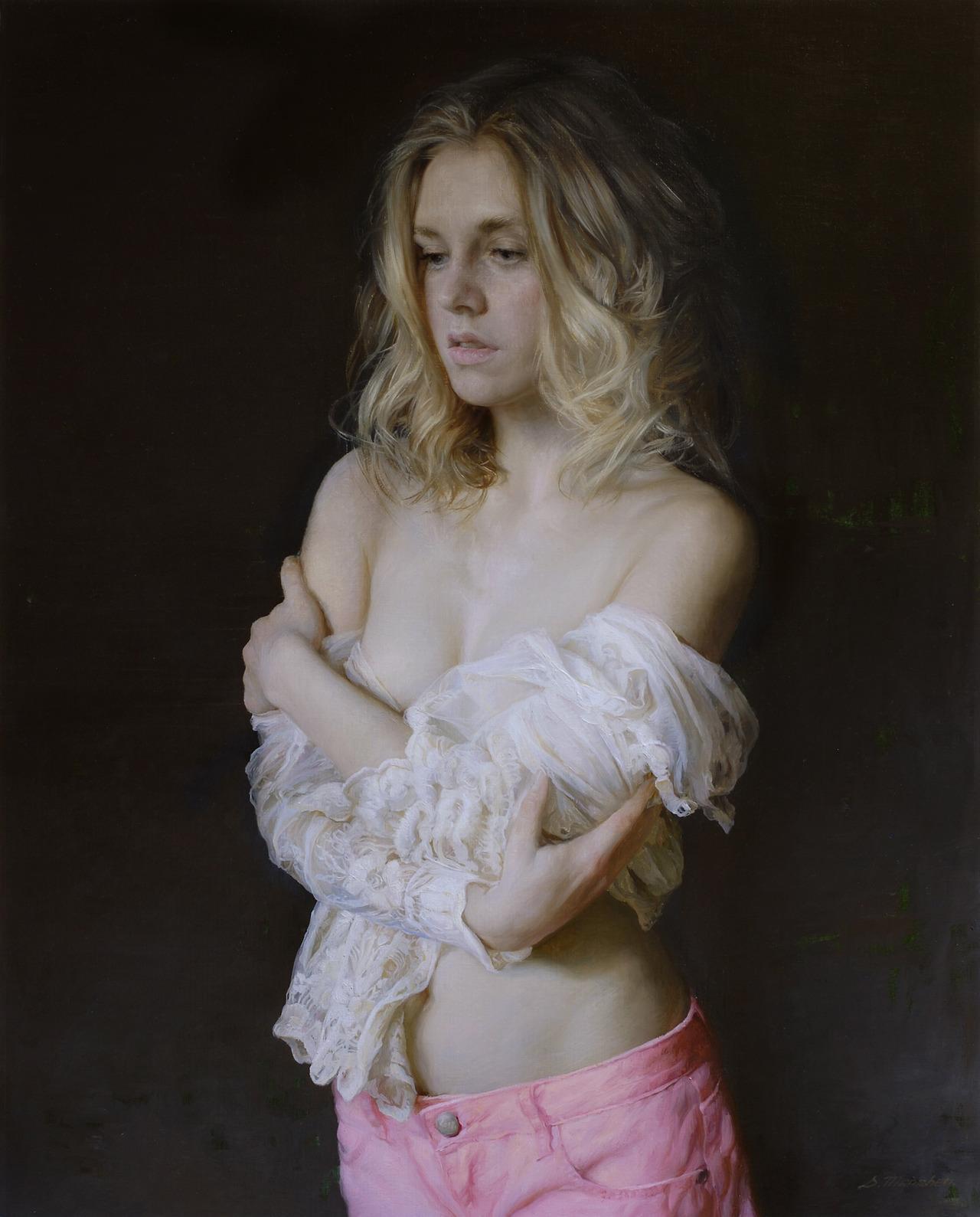 Women's images by a Russian realist artist Sergey Marshennikov - 35