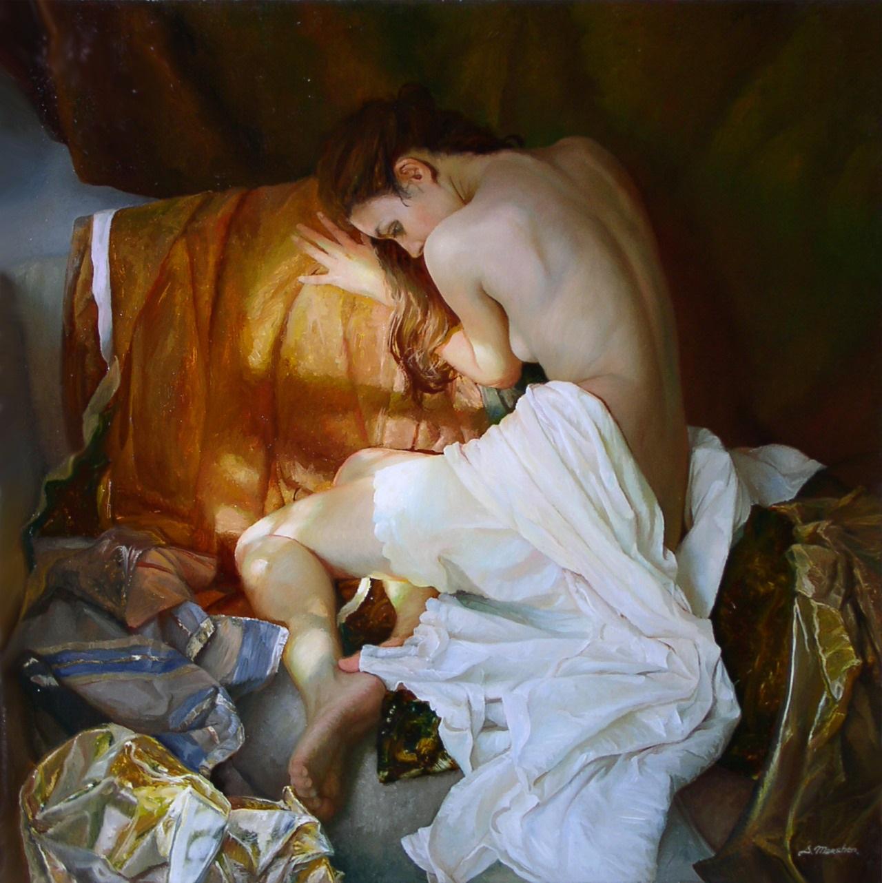 Women's images by a Russian realist artist Sergey Marshennikov - 04